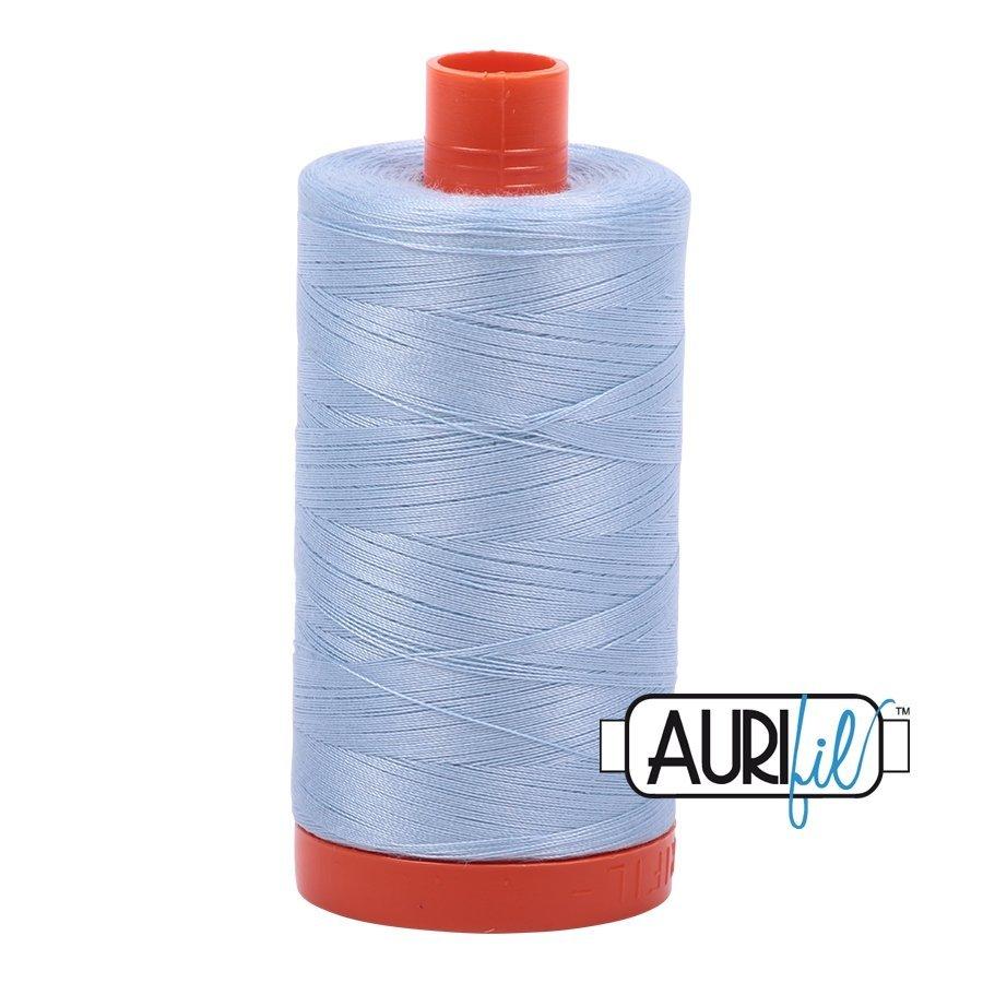 2710 Lt Robins Egg - Aurifil 50 WT 100% Cotton Mako Large Spool Thread