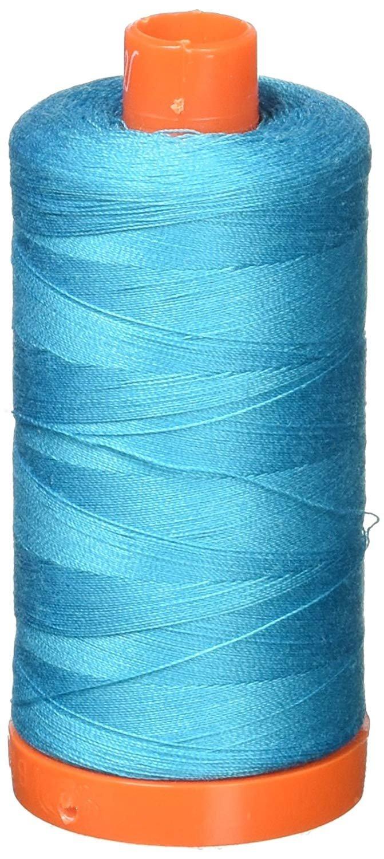 2810 Turquoise - Aurifil 50 WT 100% Cotton Mako Large Spool Thread
