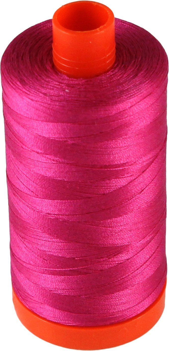 2870 Fushia - Aurifil 50 WT 100% Cotton Mako Large Spool Thread