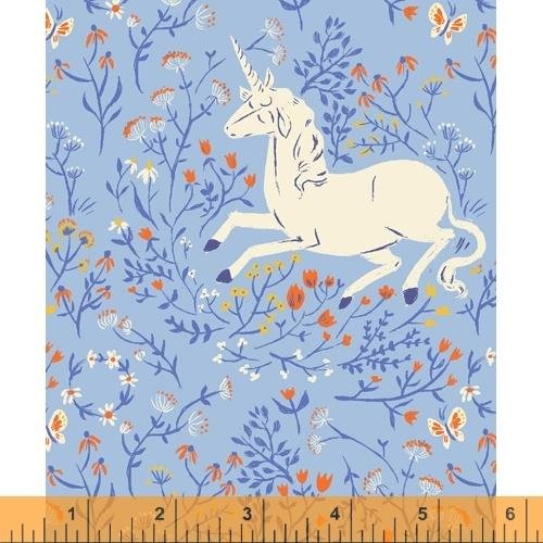 PREORDER - Heather Ross 20th Anniversary - Unicorn in Blue