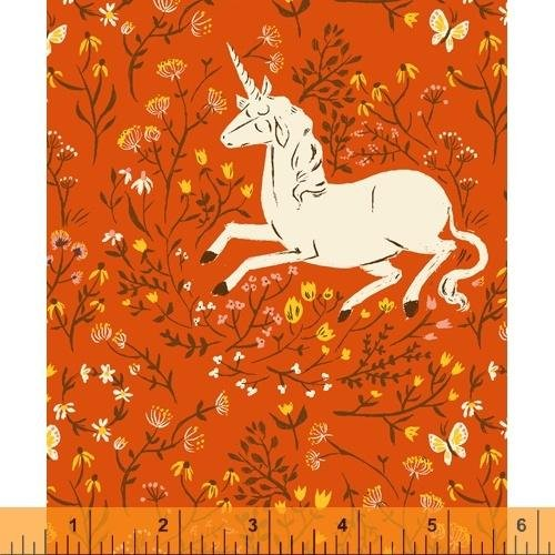 PREORDER - Heather Ross 20th Anniversary - Unicorn in Red