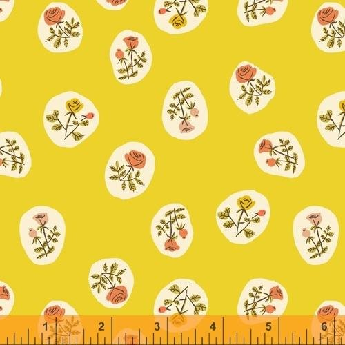PREORDER - Heather Ross 20th Anniversary - Small Roses in Yellow