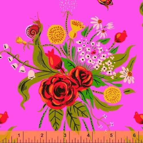 PREORDER - Heather Ross 20th Anniversary - Wild Flowers in Pink