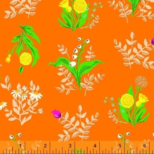 PREORDER - Heather Ross 20th Anniversary - Bouquet in Orange