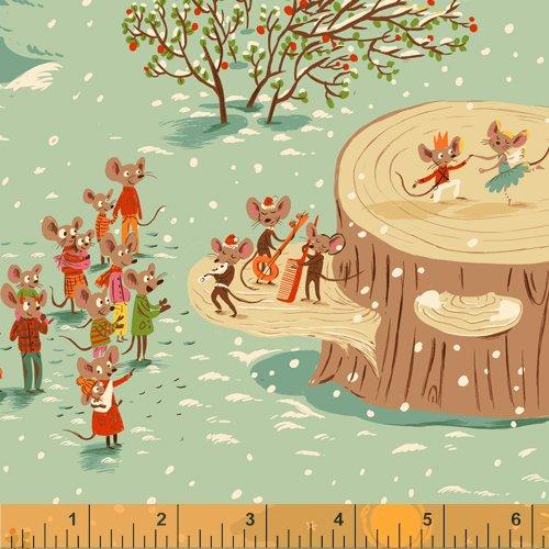 SugarPlum by Heather Ross Aqua Christmas Mice