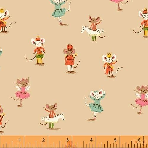 SugarPlum by Heather Ross Peach Nutrcracker Mice