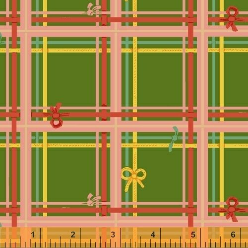 SugarPlum by Heather Ross Green Plaid