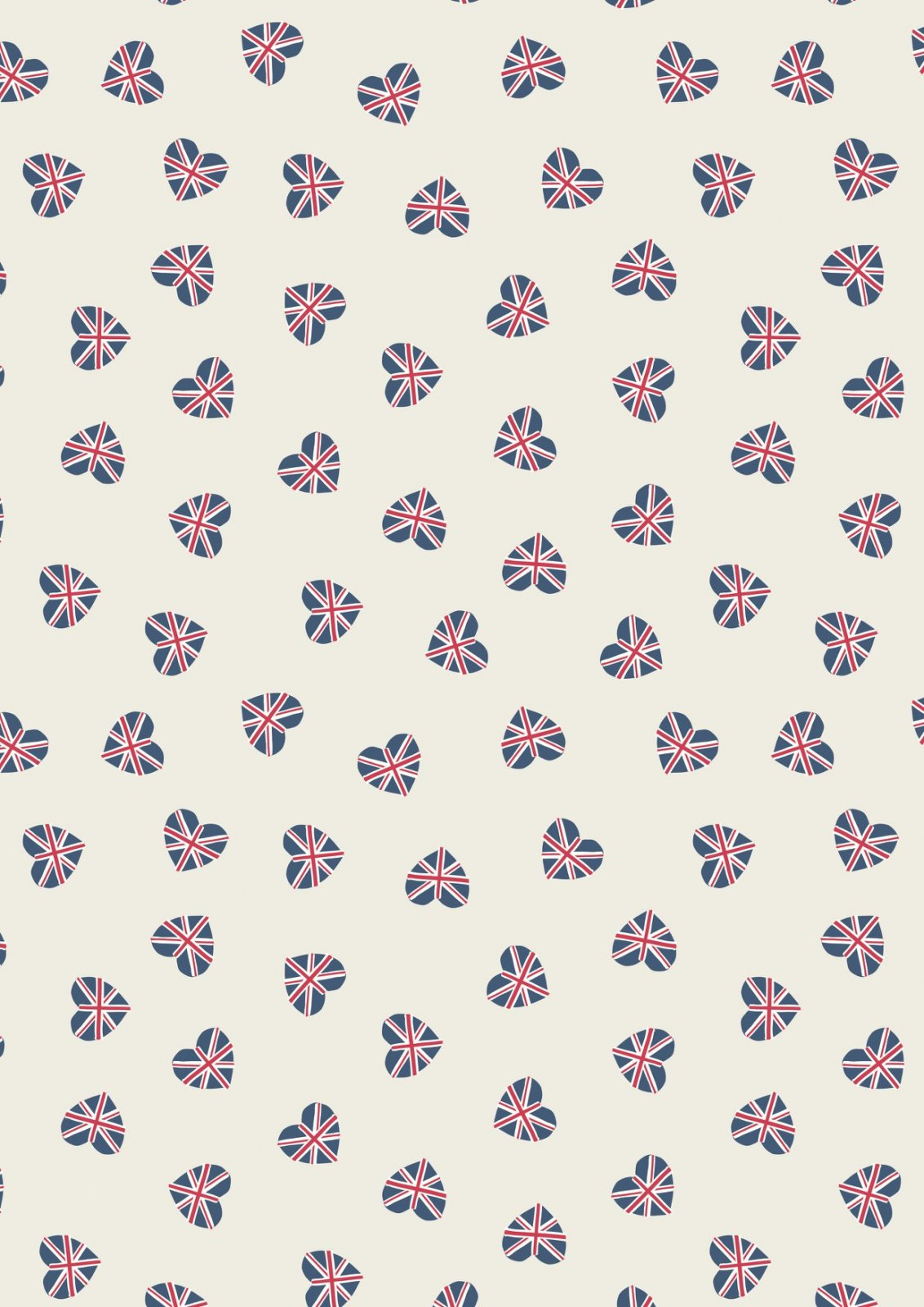 Britannia - Union Jack Hearts on Cream