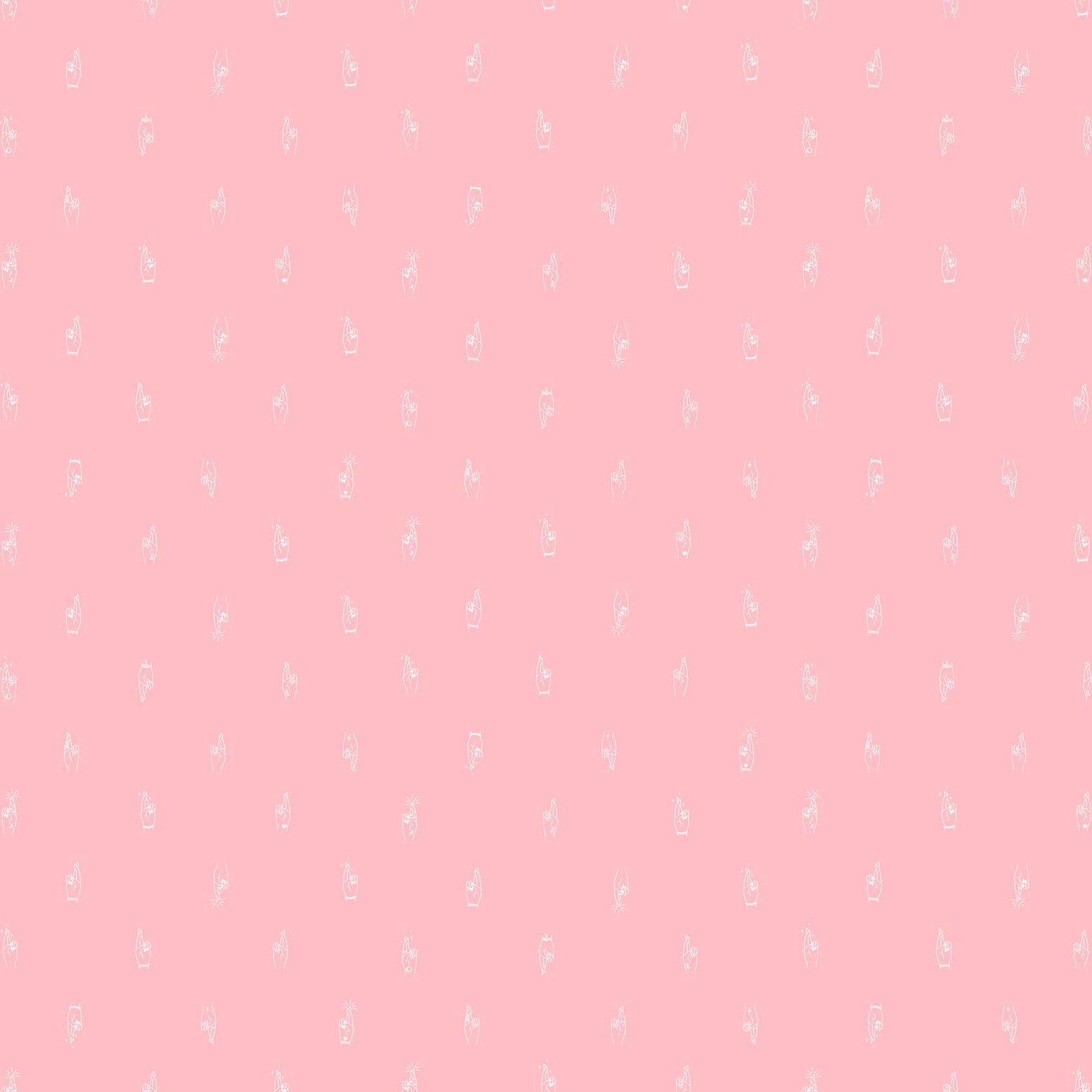 Lucky Charms Basics by Figo 92001 21 Pink Crossed Fingers