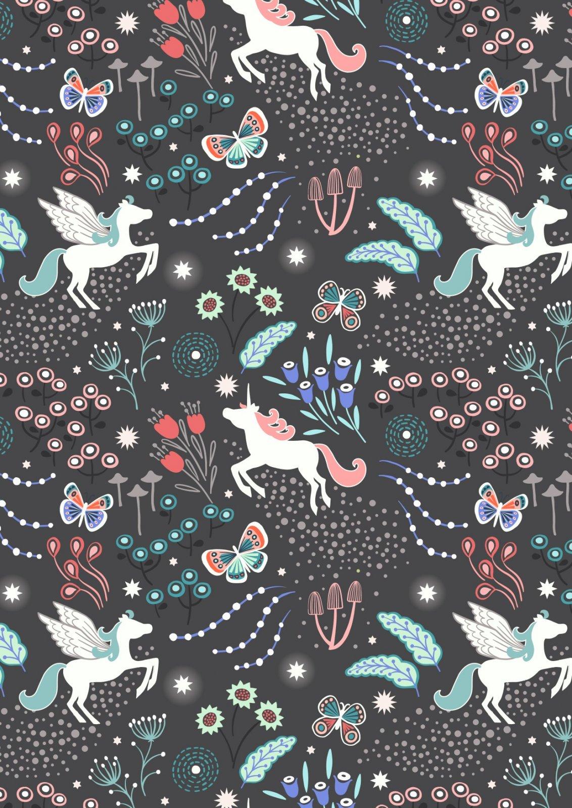 Unicorn Meadow on Black