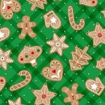 Vintage Holidays Gingerbread Treats-Green