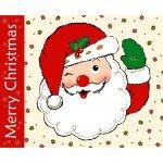 Vintage Holidays Santa Panel