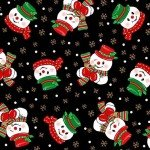 Vintage Holidays Corncob Snowmen-Black