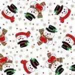 Vintage Holidays Corncob Snowmen-White