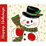 Vintage Holidays Snowman Panel