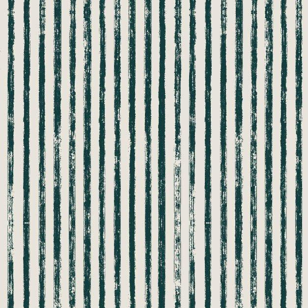 Midnight Garden Striped Linen