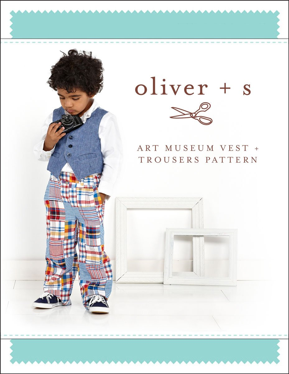 Art Museum Vest + Trousers Sewing Pattern size: 5-12