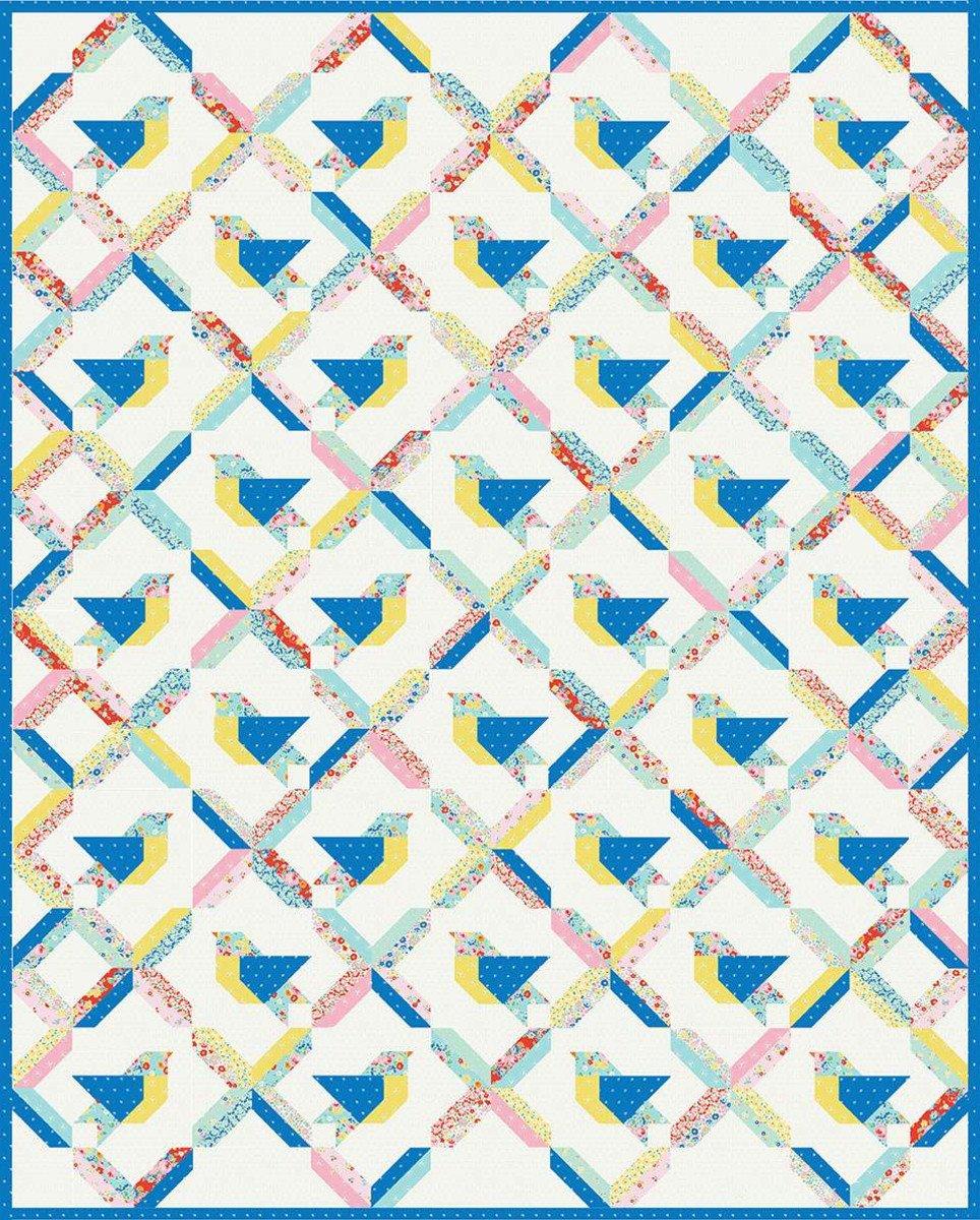 Bluebirds & Rainbows Quilt Pattern by Elea Lutz Design