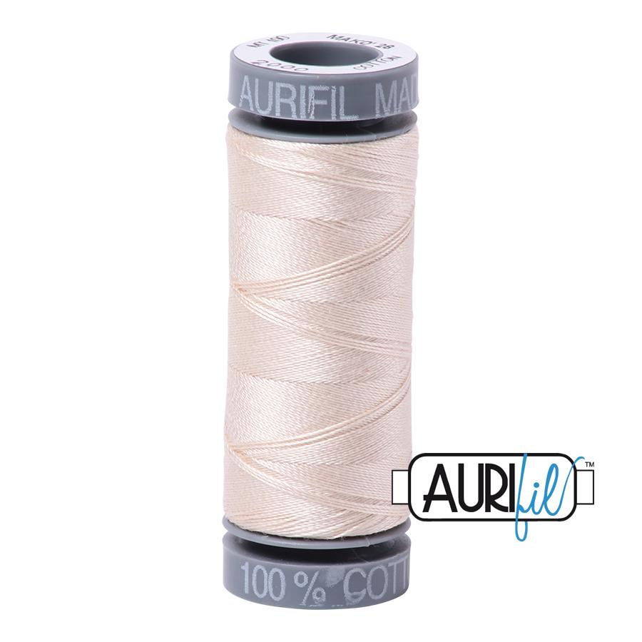 Aurifil 28wt Cotton Thread - 2000 Light Sand