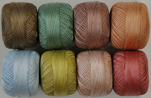 Perle Cotton Dusty Mix Thread Pack - size 16