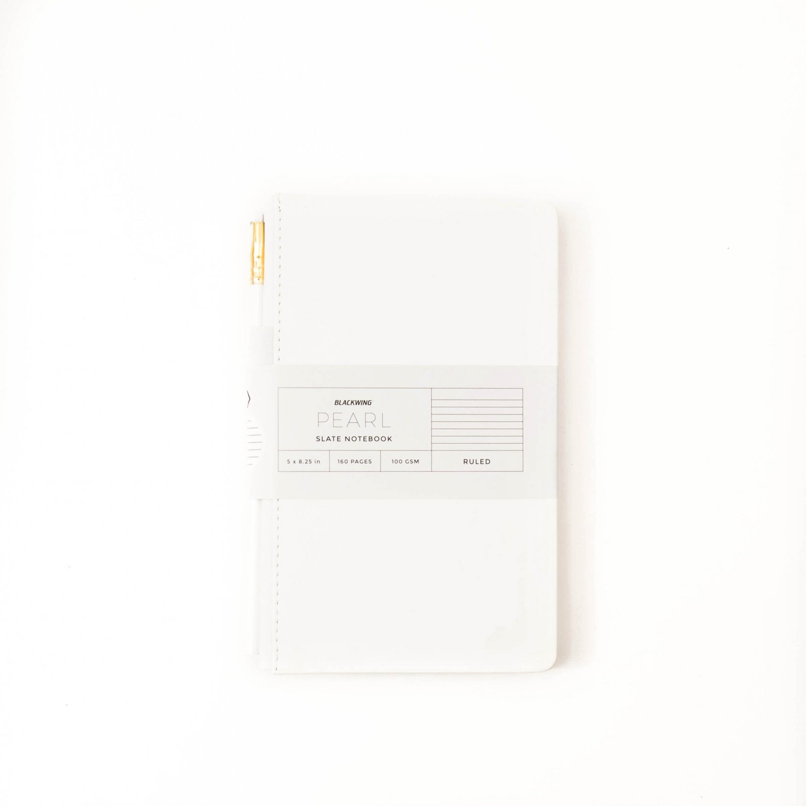Blackwing Pearl White Slate Journal - Blank Pages