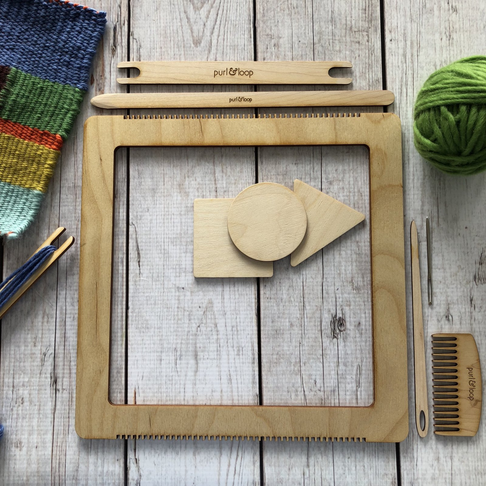 10 Inch Portable Square Frame Weaving Loom