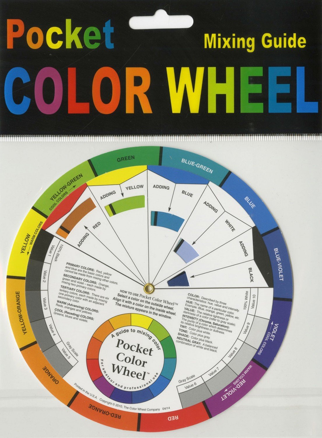 Pocket Size Color Wheel Tool
