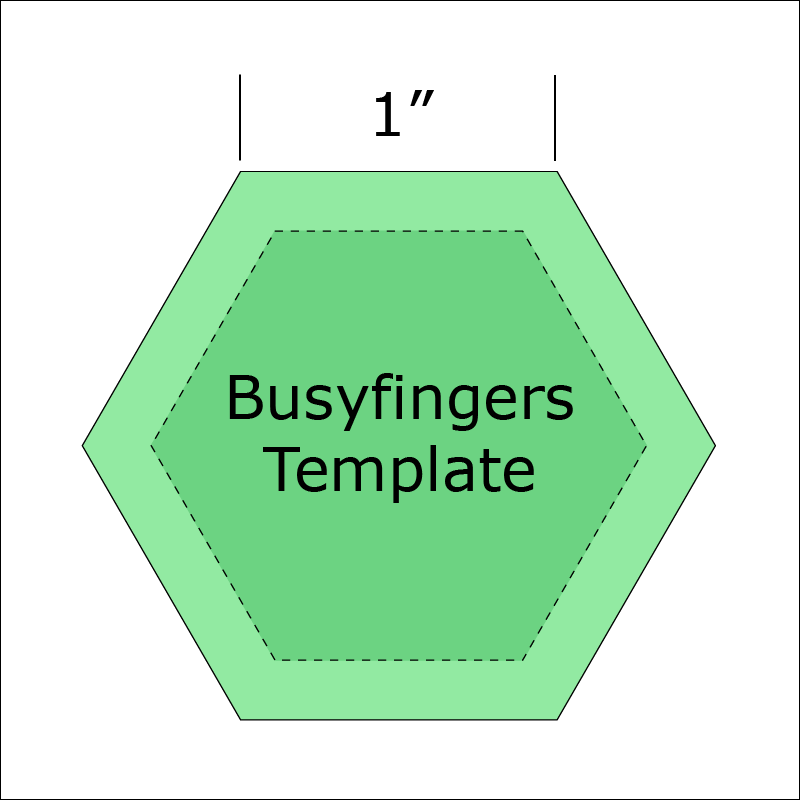 1 Hexagon Template from Busyfingers