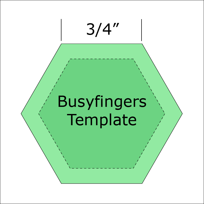 3/4 Hexagon Template from Busyfingers