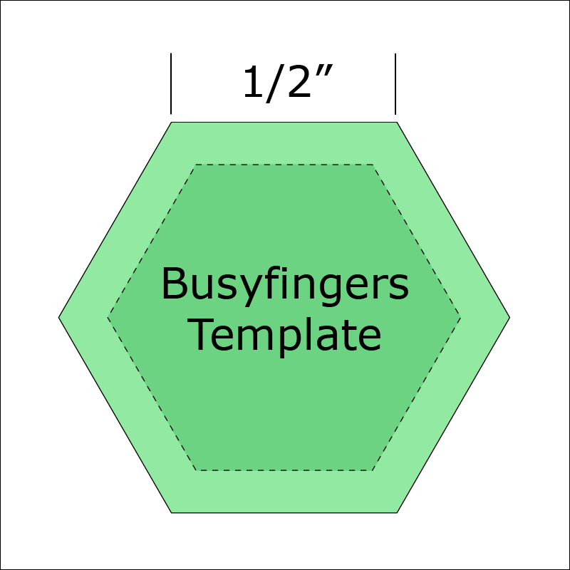 1/2 Hexagon Template from Busyfingers