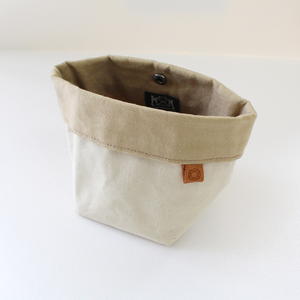 Waxed Canvas Bin - Natural
