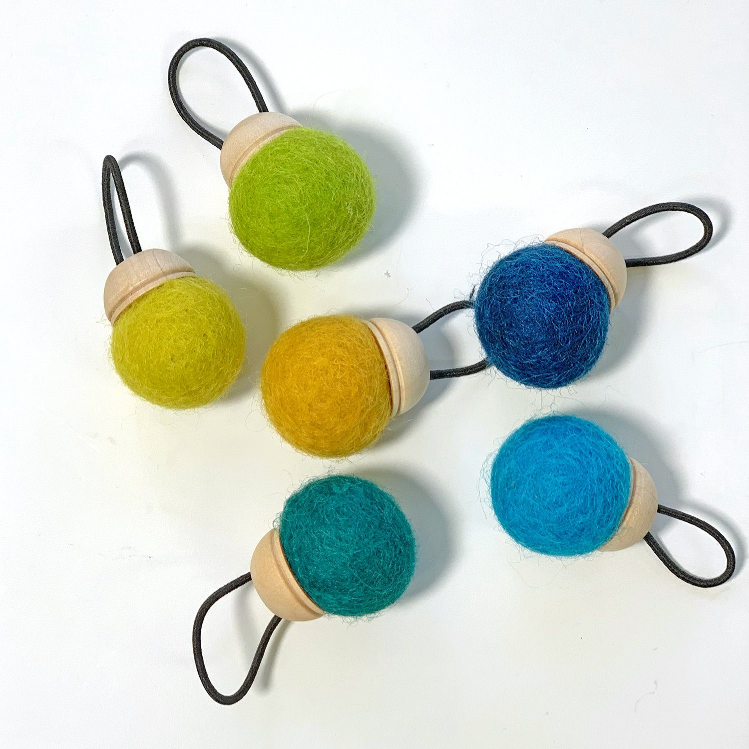 Wool Pin Cushion Ring in Cool Colors