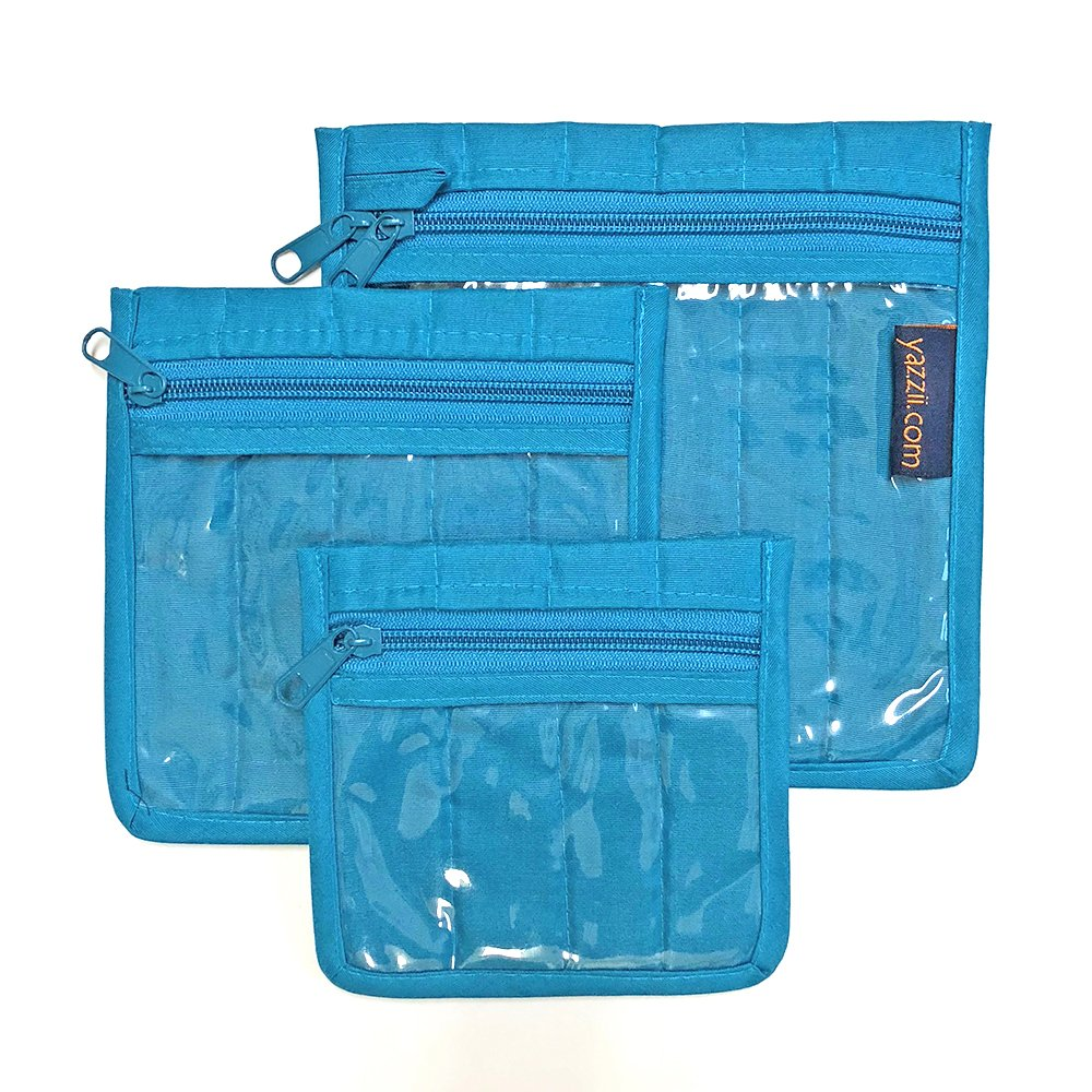 Yazzii Craft Pouches - Set of 3 - Aqua