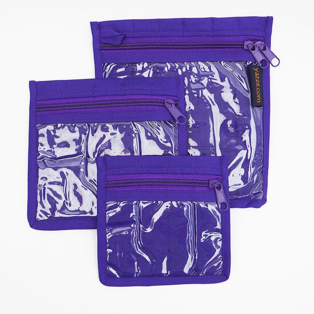 Yazzii Craft Pouches - Set of 3 - Purple