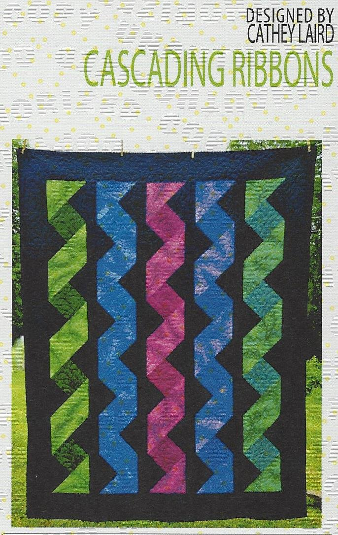 Cascading Ribbons Quilt Pattern By Cut Loose Press