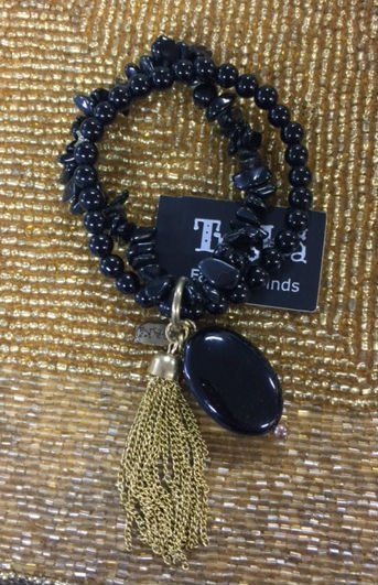 Treska Two Strand Black Onyx Bracelet