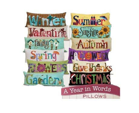 A Year in Words Pillows