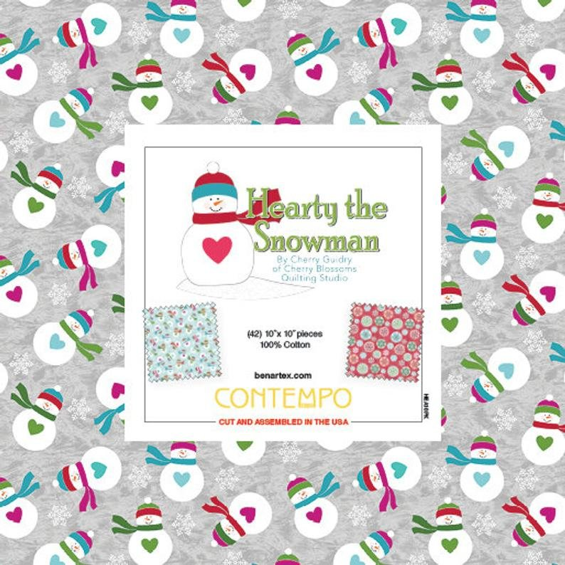 Hearty The Snowman 10x10 Pack