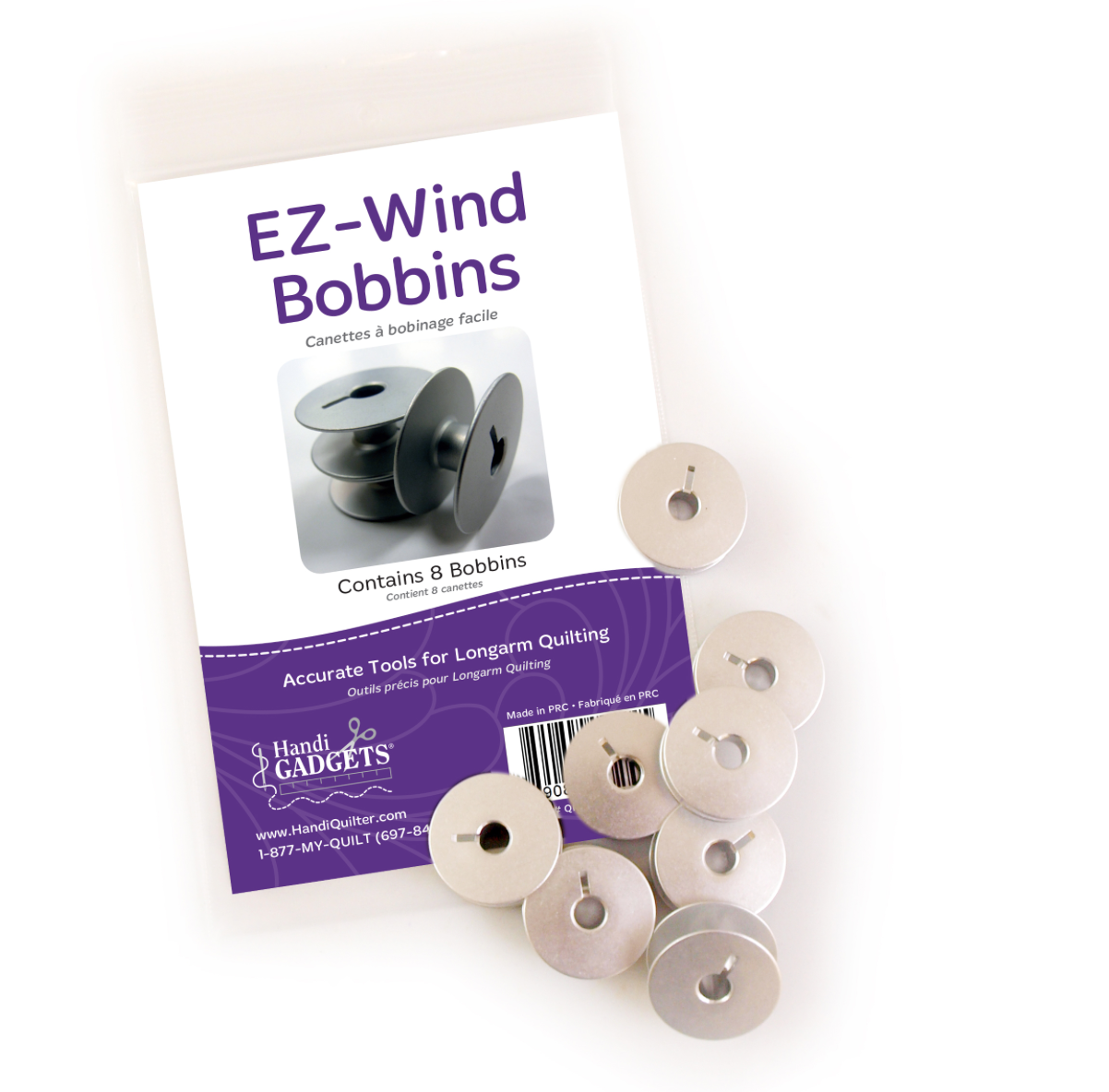 EZ-Wind Slotted M Class Bobbins (Package of 8)