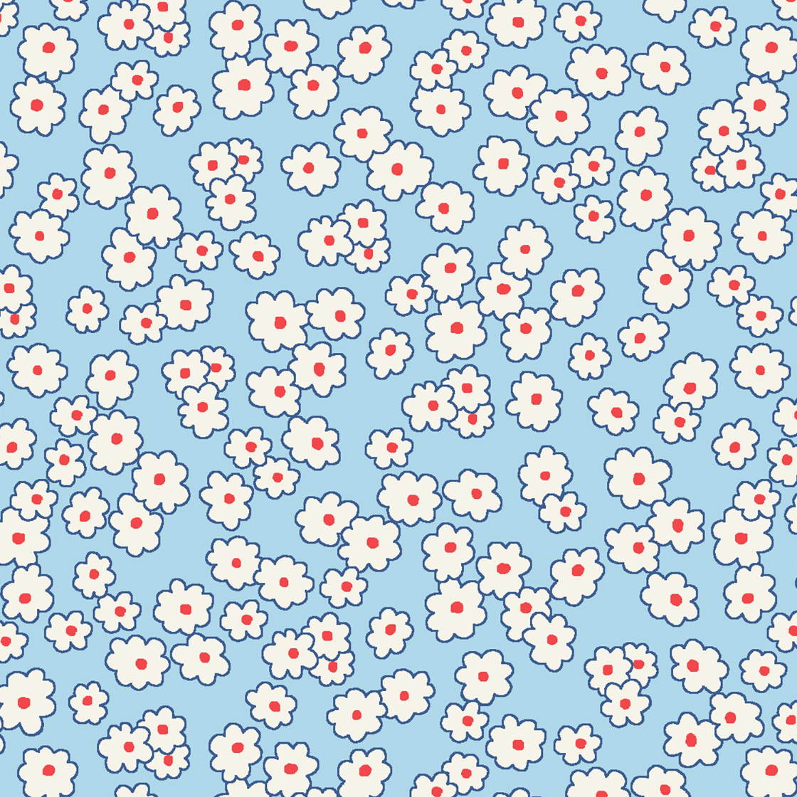 Blue Mini Floral by Whistler Studios 50003-2