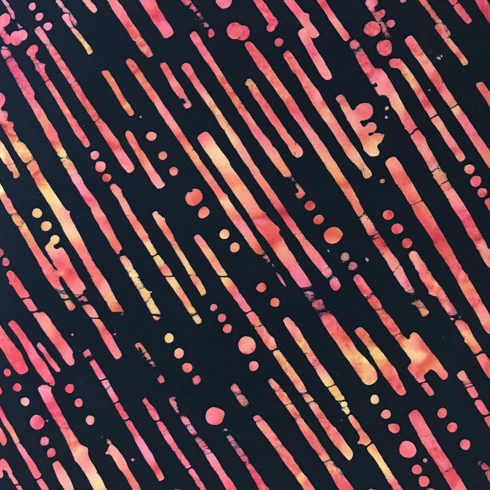 Batik Pink Lines by Batik Textiles 1029 SUNSET