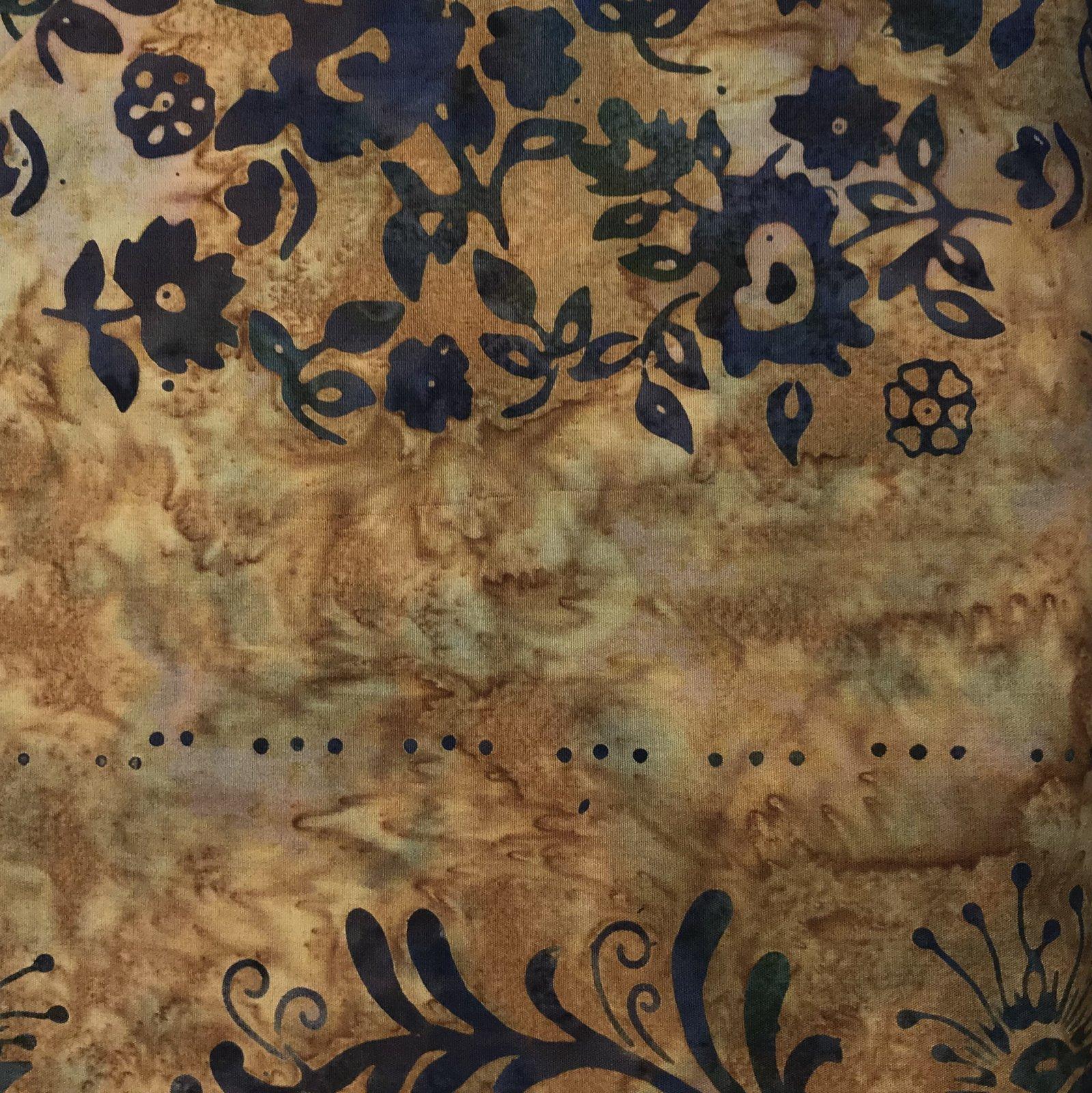 Batik Burnt Orange Floral by Batik Textiles 9635