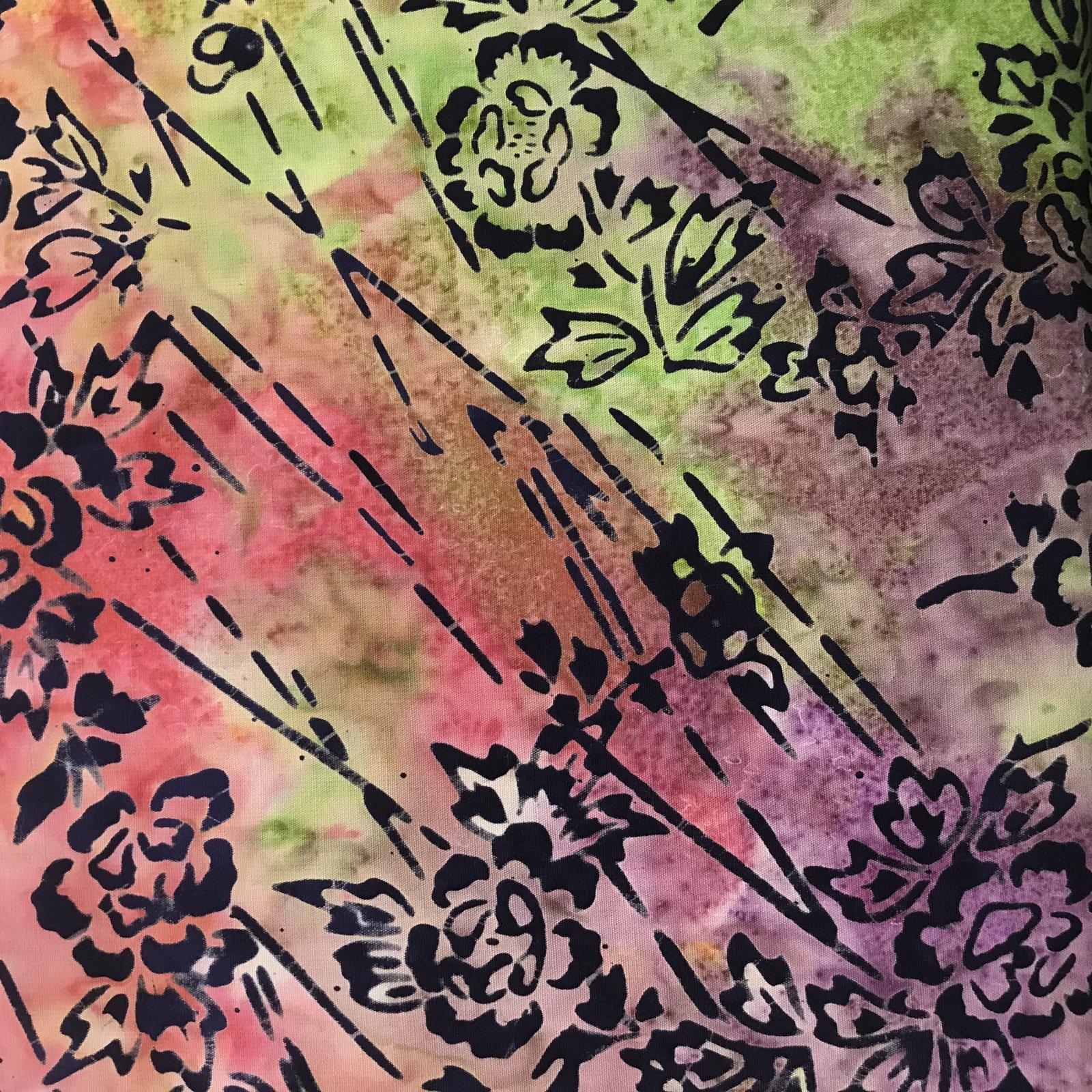 Anthology Flowers Batik 6095 GREENS