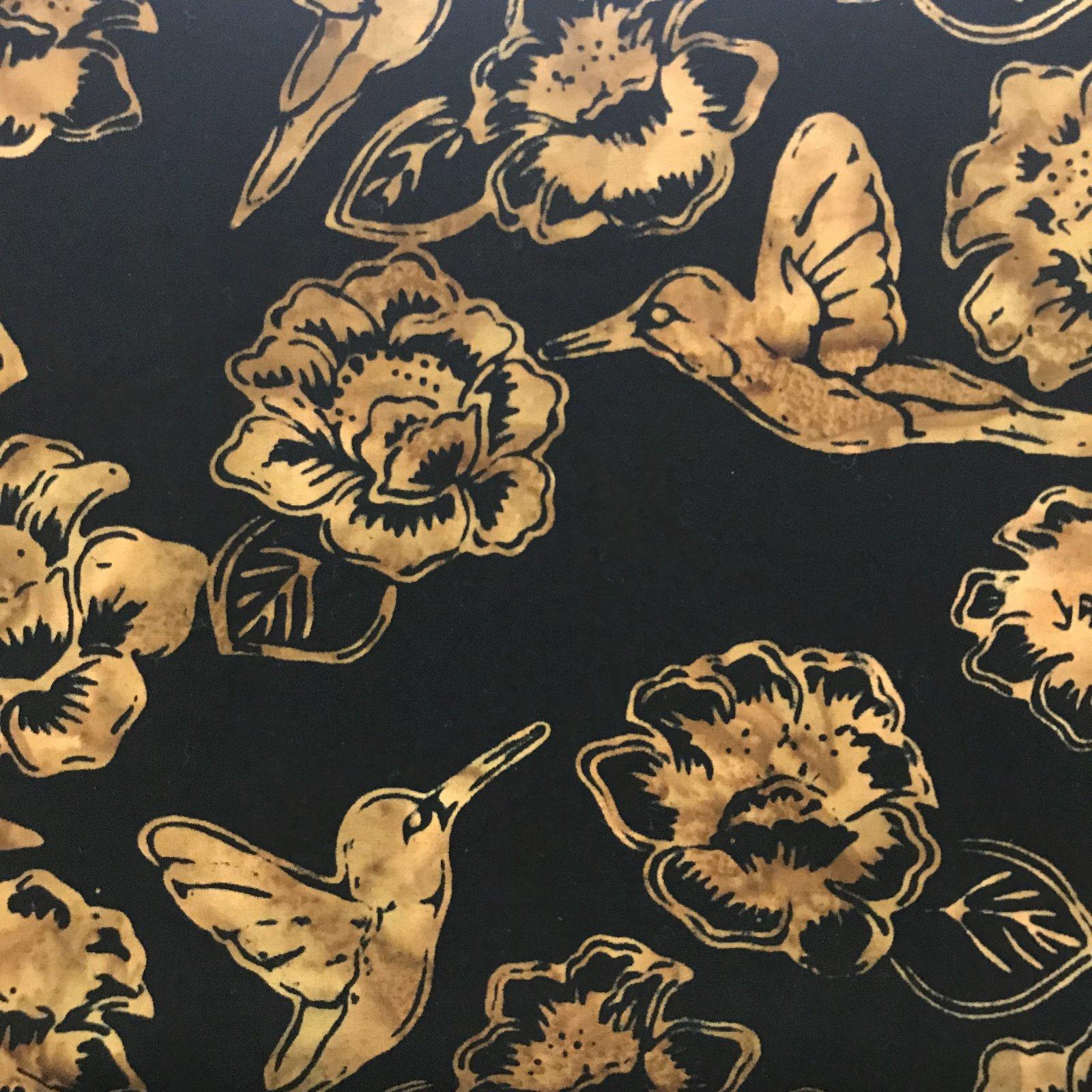 Antique Hummingbird Batik by Hoffman Fabrics J2361A4