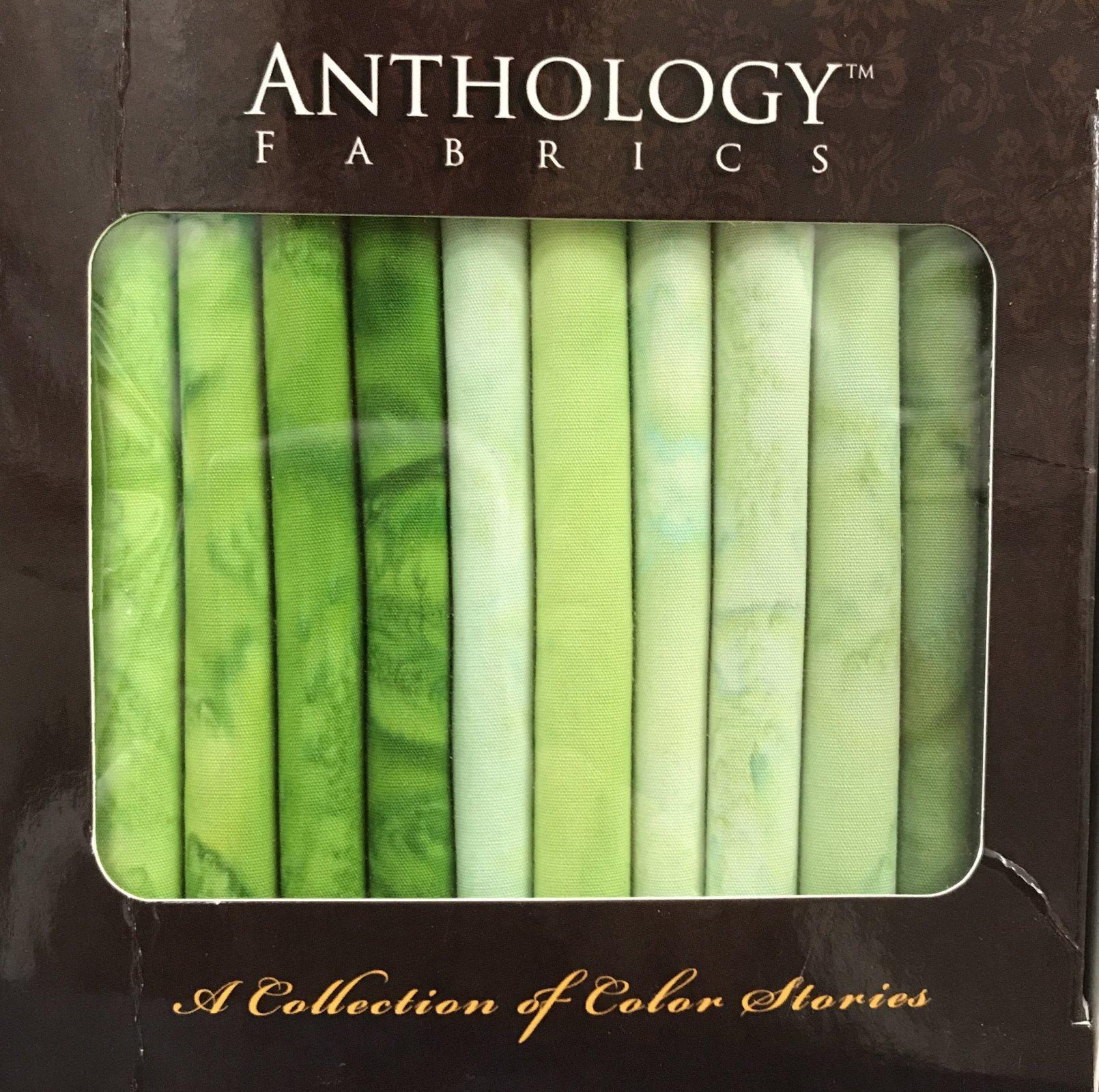 Anthology Batik Bundle Boxes - Greens