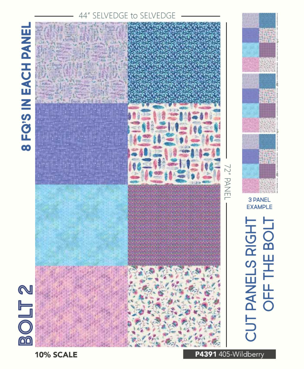 Bundle of 8 Fat Quarters - All a Twitter by Hoffman Fabrics