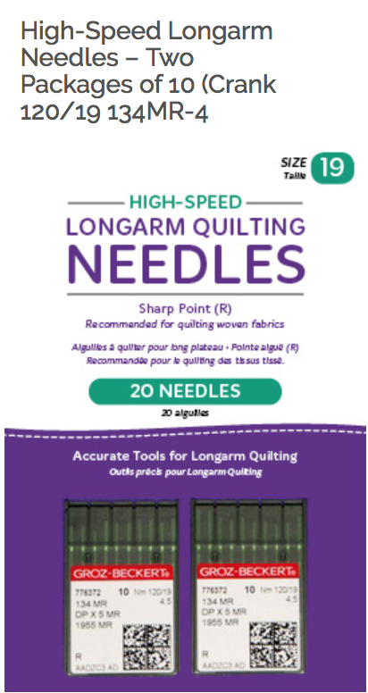 High Speed Longarm Quilting Needles Size 19