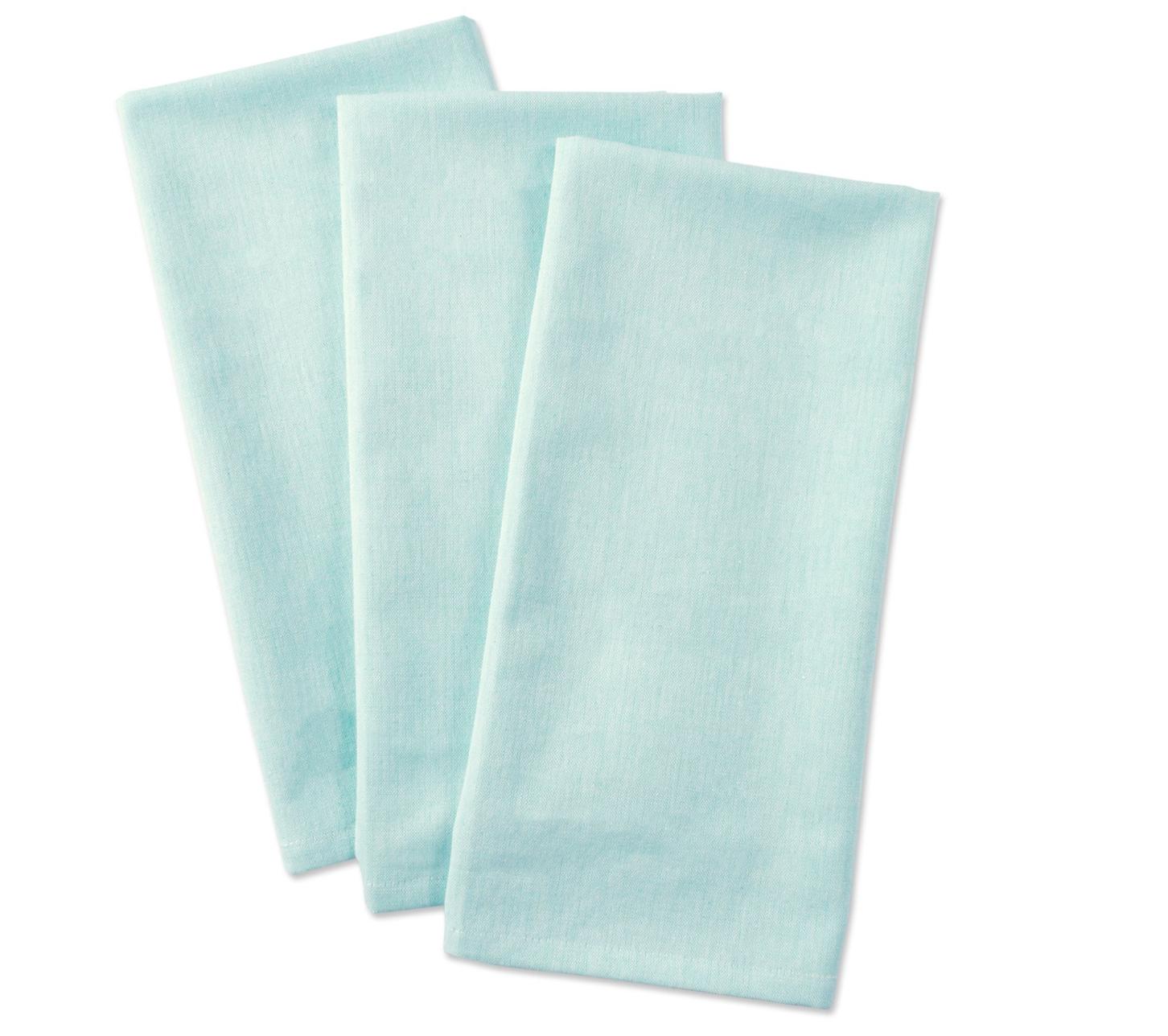 Chambray Tea Towel - (Qty 1) Aqua 20x 30