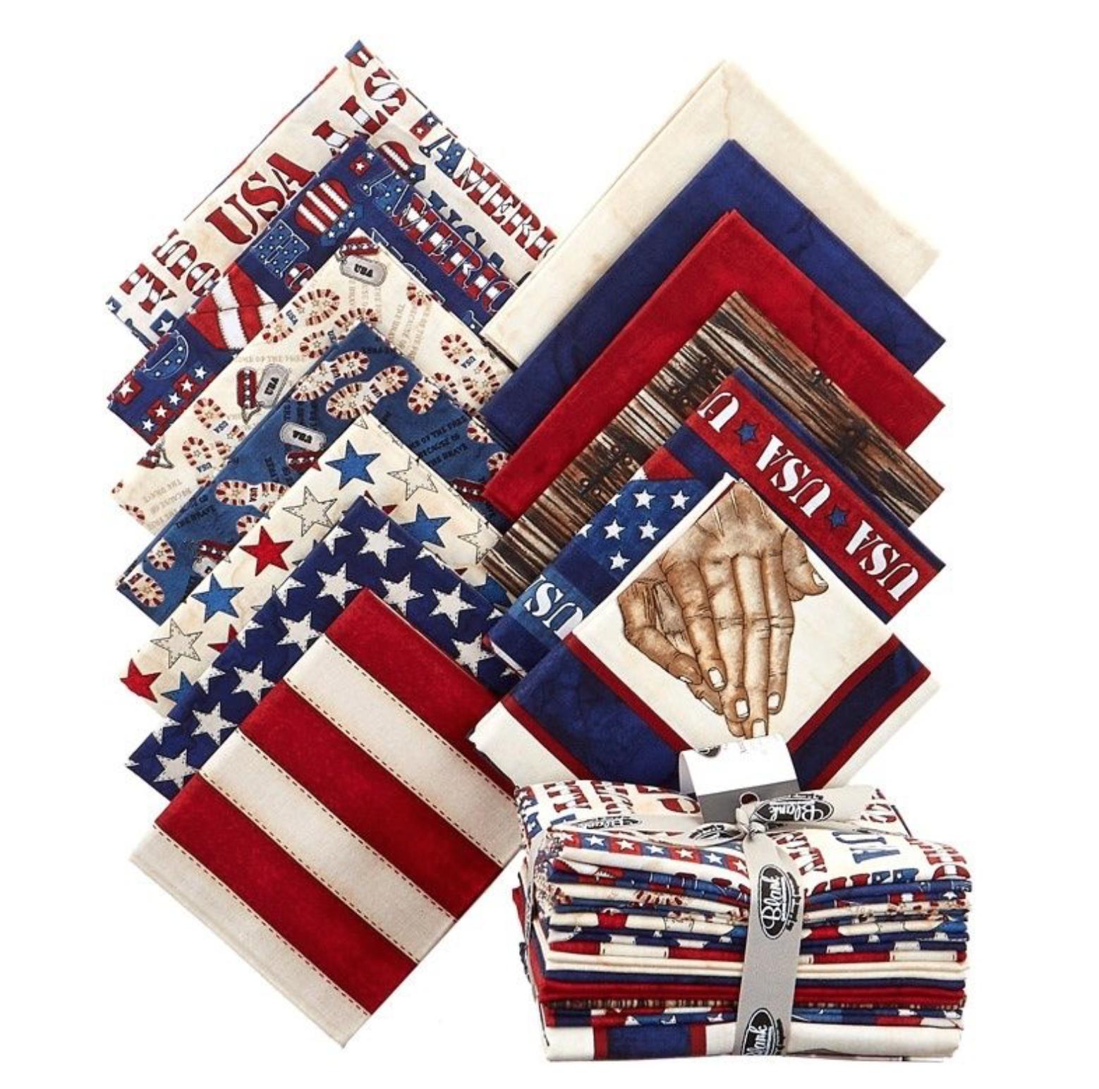 American Honor Fat Quarters 13 Pieces