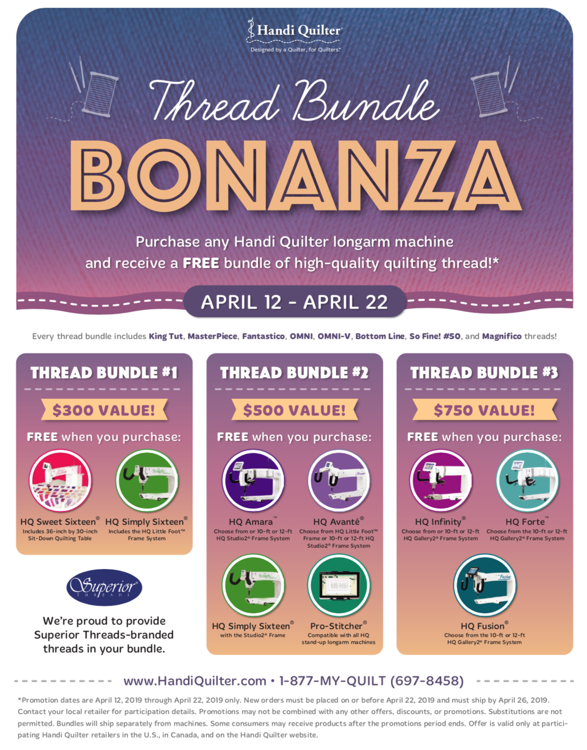 Thread Bundle Bonanza!